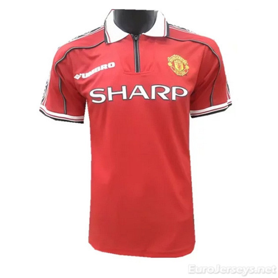 Manchester United 98-99 Home Retro Shirt Soccer Jersey