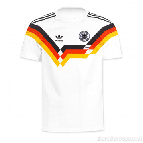 West Germany 1990 Home Retro Cheap Soccer Jerseys