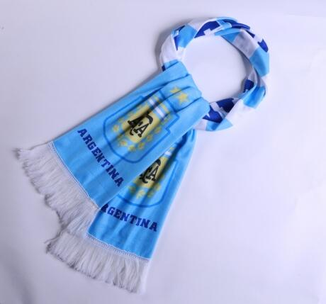 Argentina 2018 World Cup Blue Soccer Scarf