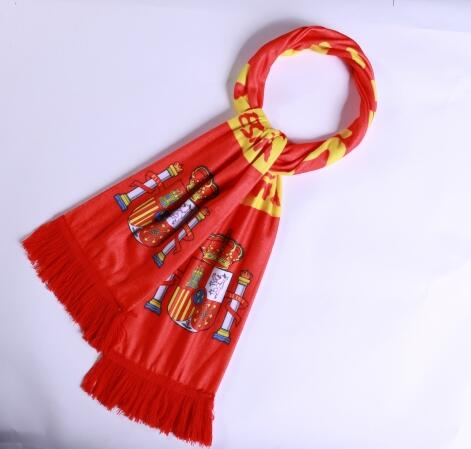 Spain 2018 World Cup Red Soccer Scarf