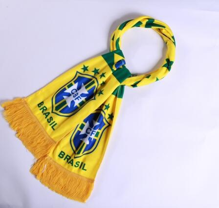 Brazil 2018 World Cup Yellow Soccer Scarf