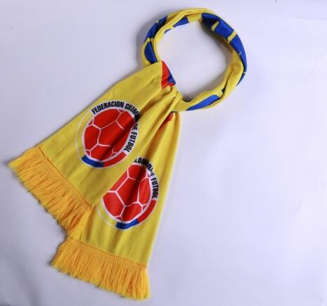 Colombia 2018 World Cup Yellow Soccer Scarf