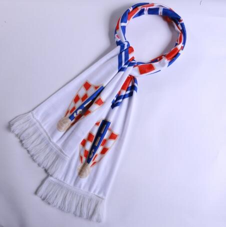 Croatia 2018 World Cup White Soccer Scarf