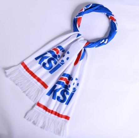 Iceland 2018 World Cup White Soccer Scarf