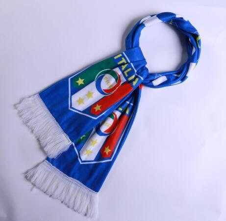 Italy 2018 Blue Soccer Scarf