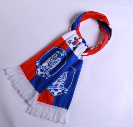 Korea 2018 World Cup Blue Soccer Scarf