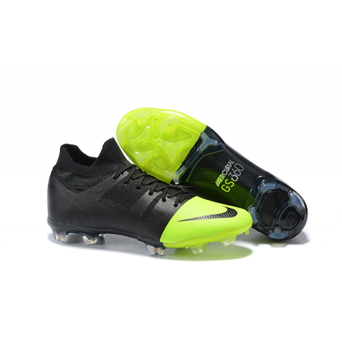 NK Mercurial Greenspeed 360 FG Soccer Cleats-Black&Green