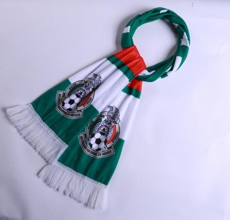 Mexico 2018 World Cup Green Soccer Scarf