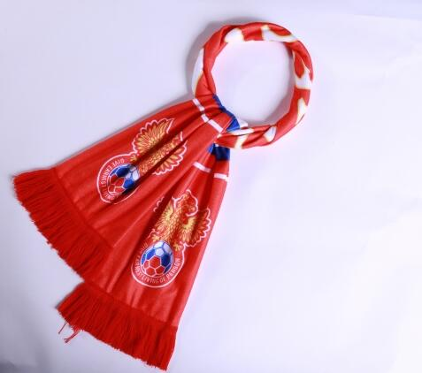 Russia 2018 World Cup Red Soccer Scarf