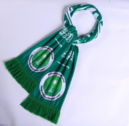 Saudi Arabia 2018 World Cup Green Soccer Scarf