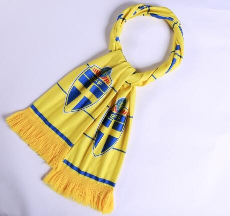 Sverige 2018 World Cup Yellow Soccer Scarf