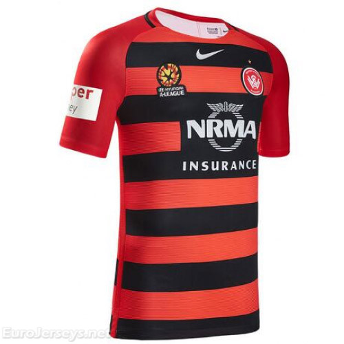Western Sydney Wanderers FC 2016-17 Home Shirt Soccer Jersey