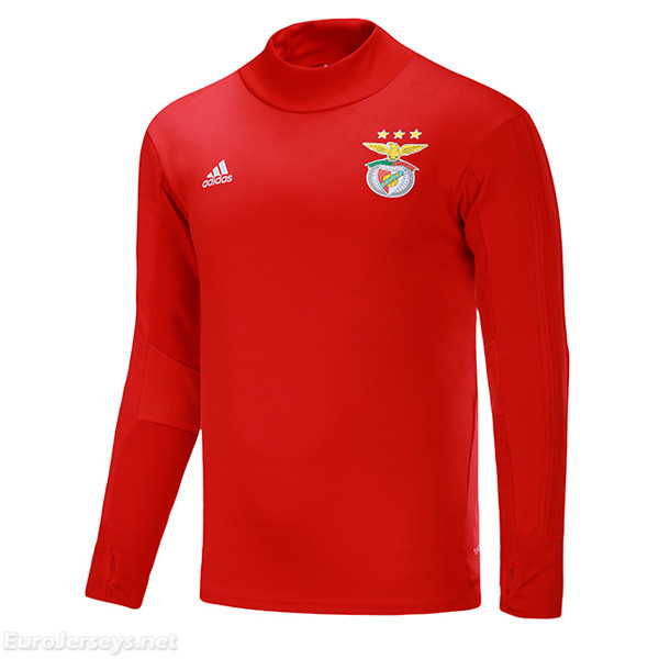Benfica 2017-18 Red Training Sweat Top Shirt