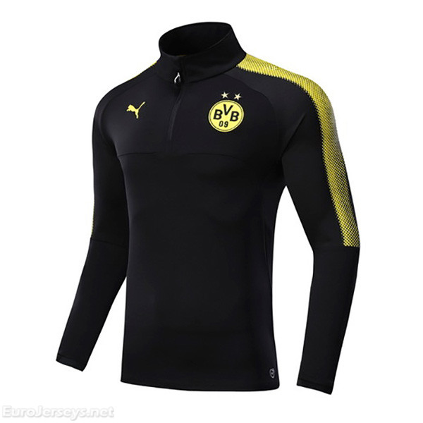 Borussia Dortmund 2017-18 Black Zipper Sweat Top Shirt