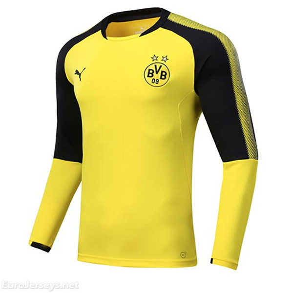Borussia Dortmund 2017-18 Yellow Round Neck Training Sweater