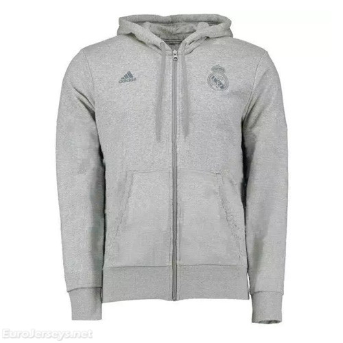 Real Madrid 2016-17 Gray Hoody Jacket