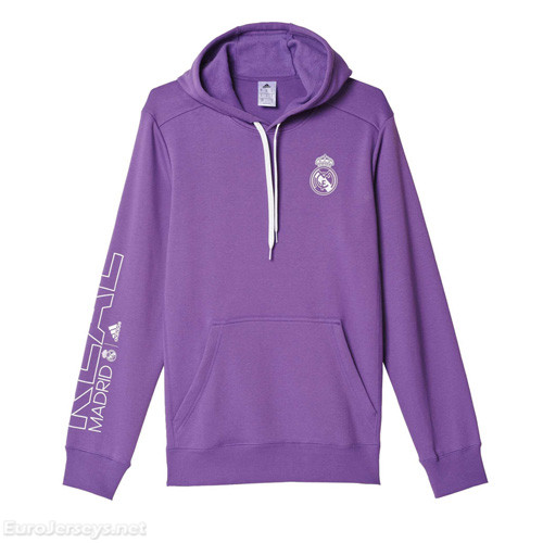 Real Madrid 2016-17 Purple Hoody Sweater