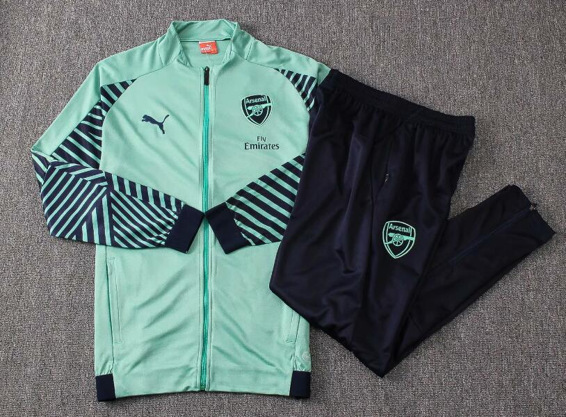 Arsenal Tracksuit 2018-19 Green Jacket Top + Pants