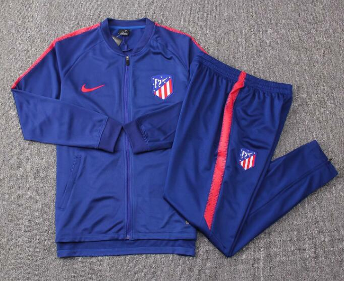 Atletico Madrid Tracksuit 2018-19 Blue Jacket Top + Pants
