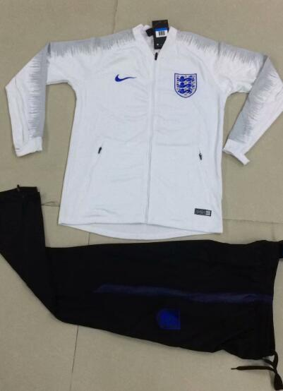 England Tracksuit 2018-19 White Jacket Top + Pants