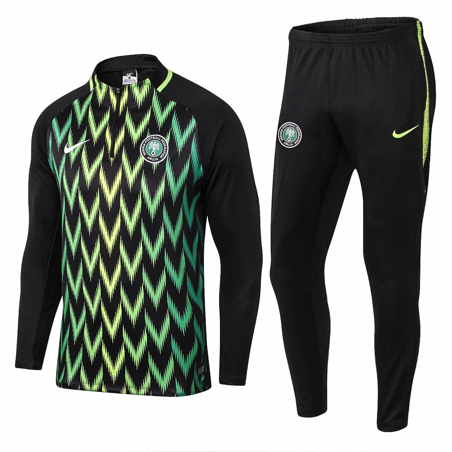 Nigeria Training Suit World Cup 2018 Black Top + Pants