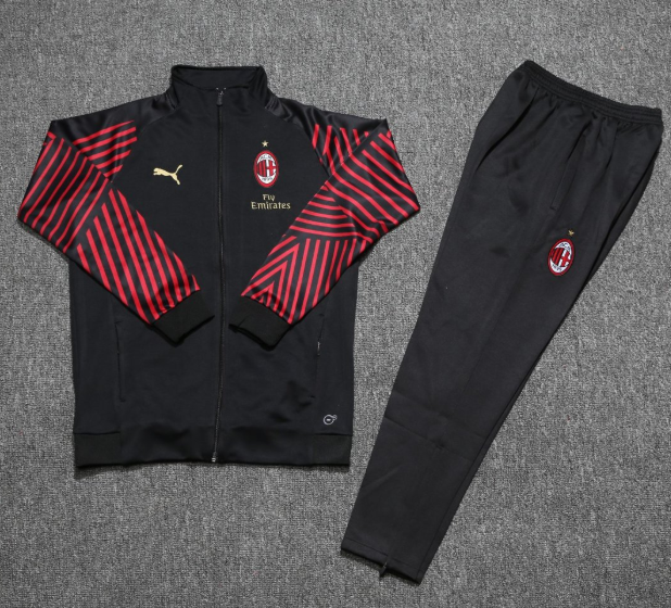 AC Milan Training Suit 2018-19 Black Red Jacket Top + Pants