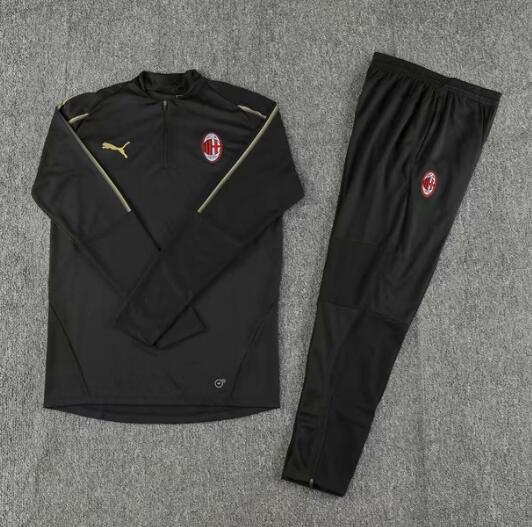 AC Milan Tracksuit 2018-19 Black Sweat Top + Pants