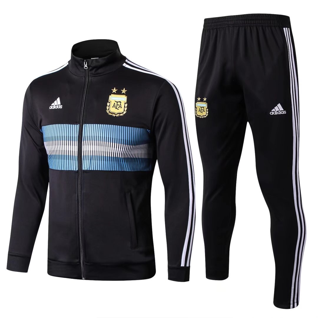 Argentina 2018 FIFA World Cup Black Track Suit (Jacket+Trouser)
