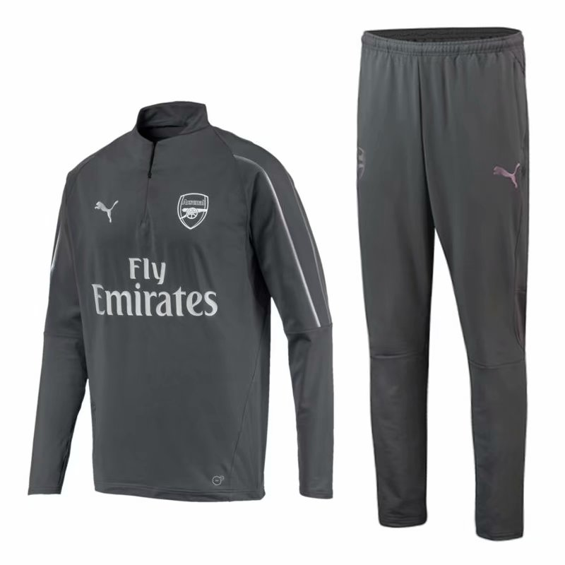 Arsenal Training Suit 2018-19 Gray Sweat Top + Pants