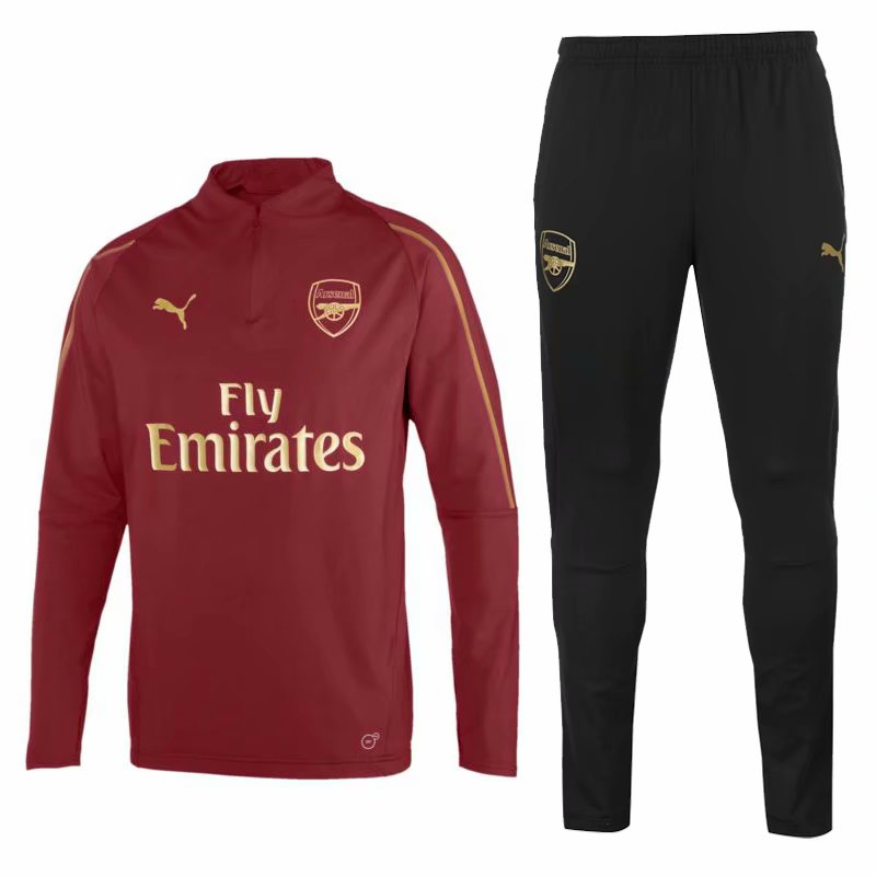 Arsenal Training Suit 2018-19 Maroon Sweat Top + Pants