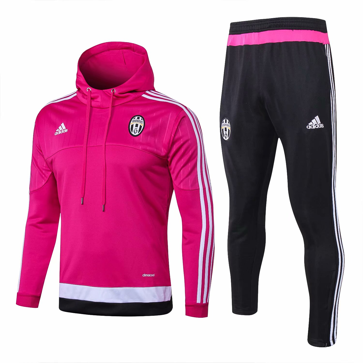 Juventus Training Suit 2015-16 Pink Hoody Jacket + Pants