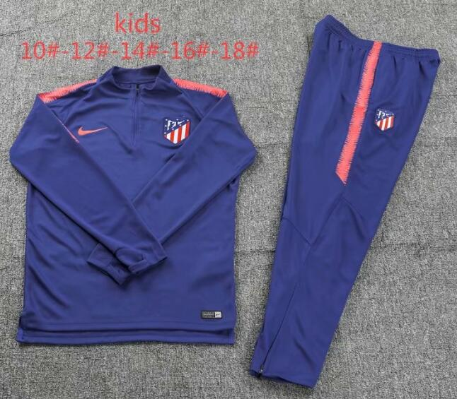 Kids Atletico Madrid Tracksuit 2018-19 Blue Sweat Top + Pants