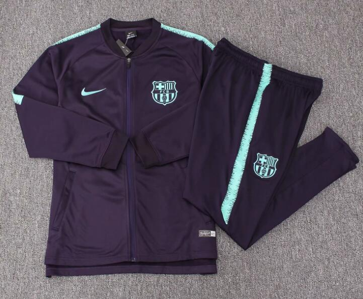 Kids Barcelona Tracksuit 2018-19 Purple Jacket Top + Pants