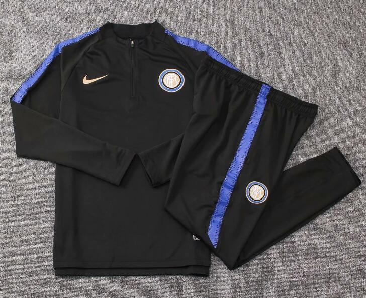 Kids Inter Milan Tracksuit 2018-19 Black Sweat Top + Pants