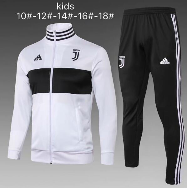 Kids Juventus Tracksuit 2018-19 White Jacket Top + Pants