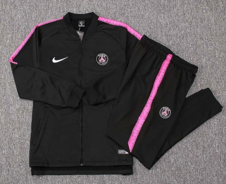 Kids PSG Jordan Tracksuit 2018-19 Black Jacket Top + Pants