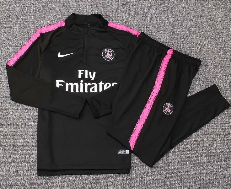 Kids PSG Tracksuit 2018-19 Black Sweat Top + Pants