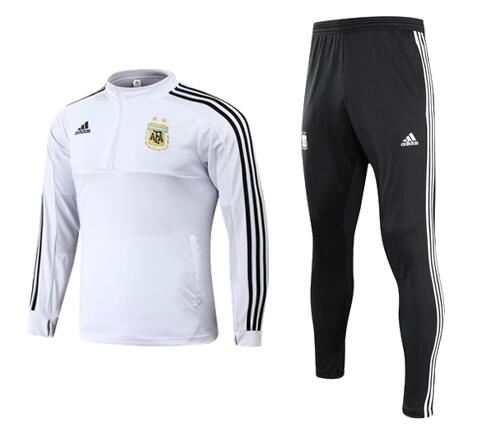 Kids Argentina Training Suit White 2018 World Cup