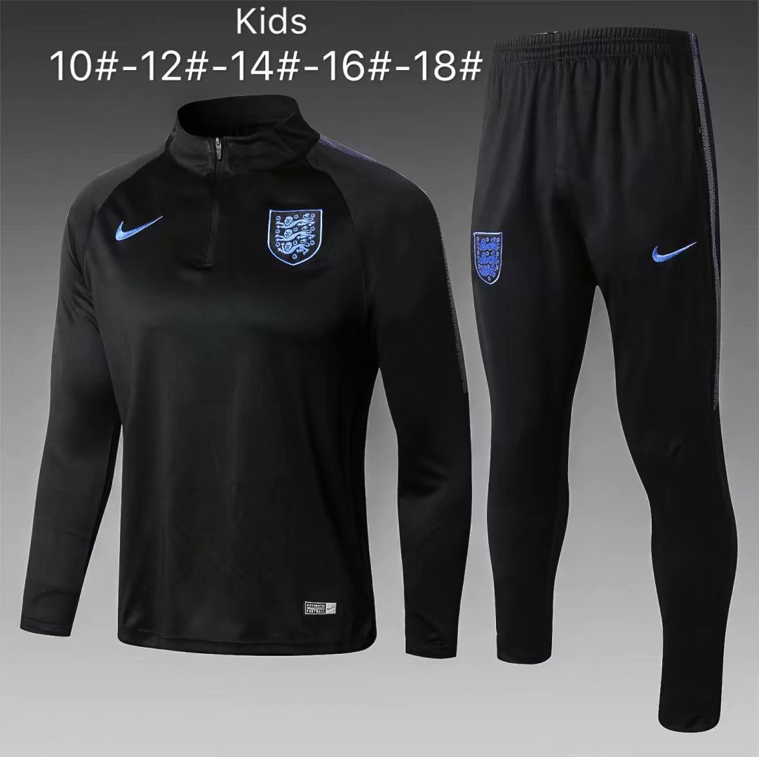 Kids England Tracksuit 2018 World Cup Black