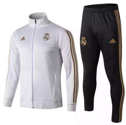 Real Madrid Tracksuit 2019-20 White Jacket Top + Pants