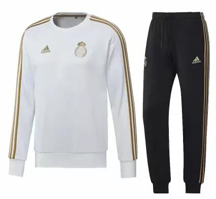 Real Madrid Tracksuit 2019-20 White O Neck Sweat Top + Pants