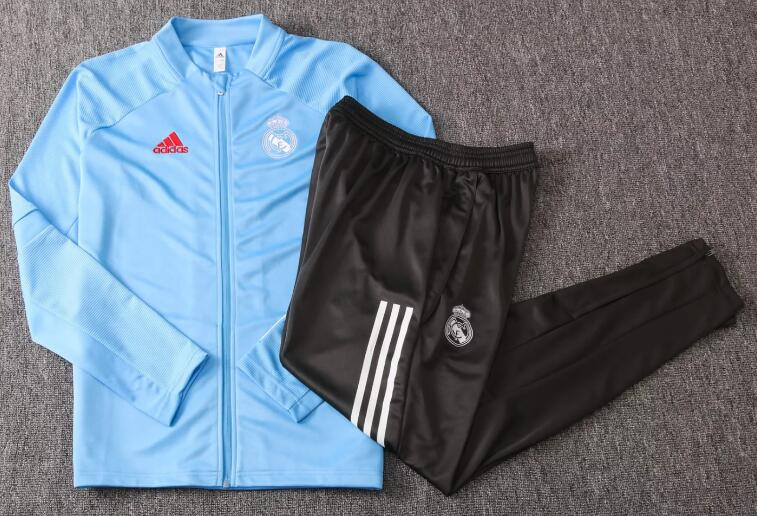 Real Madrid Youth Tracksuits 2020-21 Blue Jacket + Pants