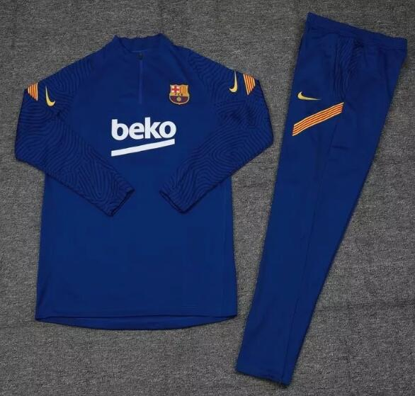 Barcelona Kids Tracksuits 2020-21 Blue Youth Top + Pants