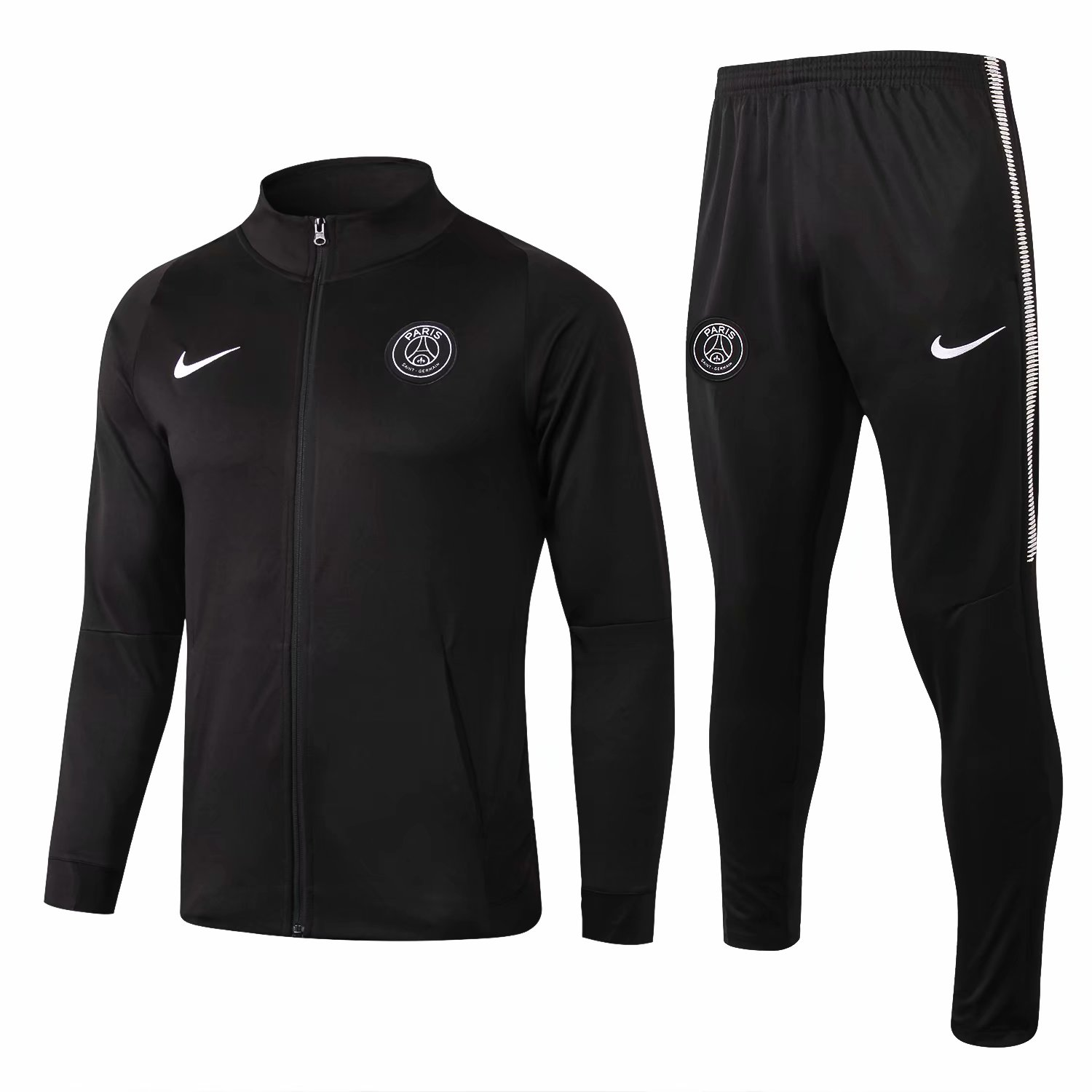 PSG Training Suit 2017-18 Black High Neck Jacket + Pants