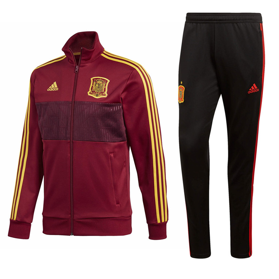 Spain Training Suit World Cup 2018 Burgundy Jacket + Pants