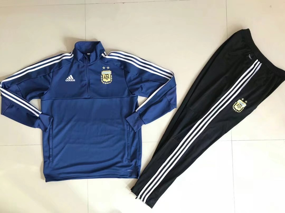 Argentina 2018 FIFA World Cup Blue Track Suit (Sweat Shirt+Trouser)