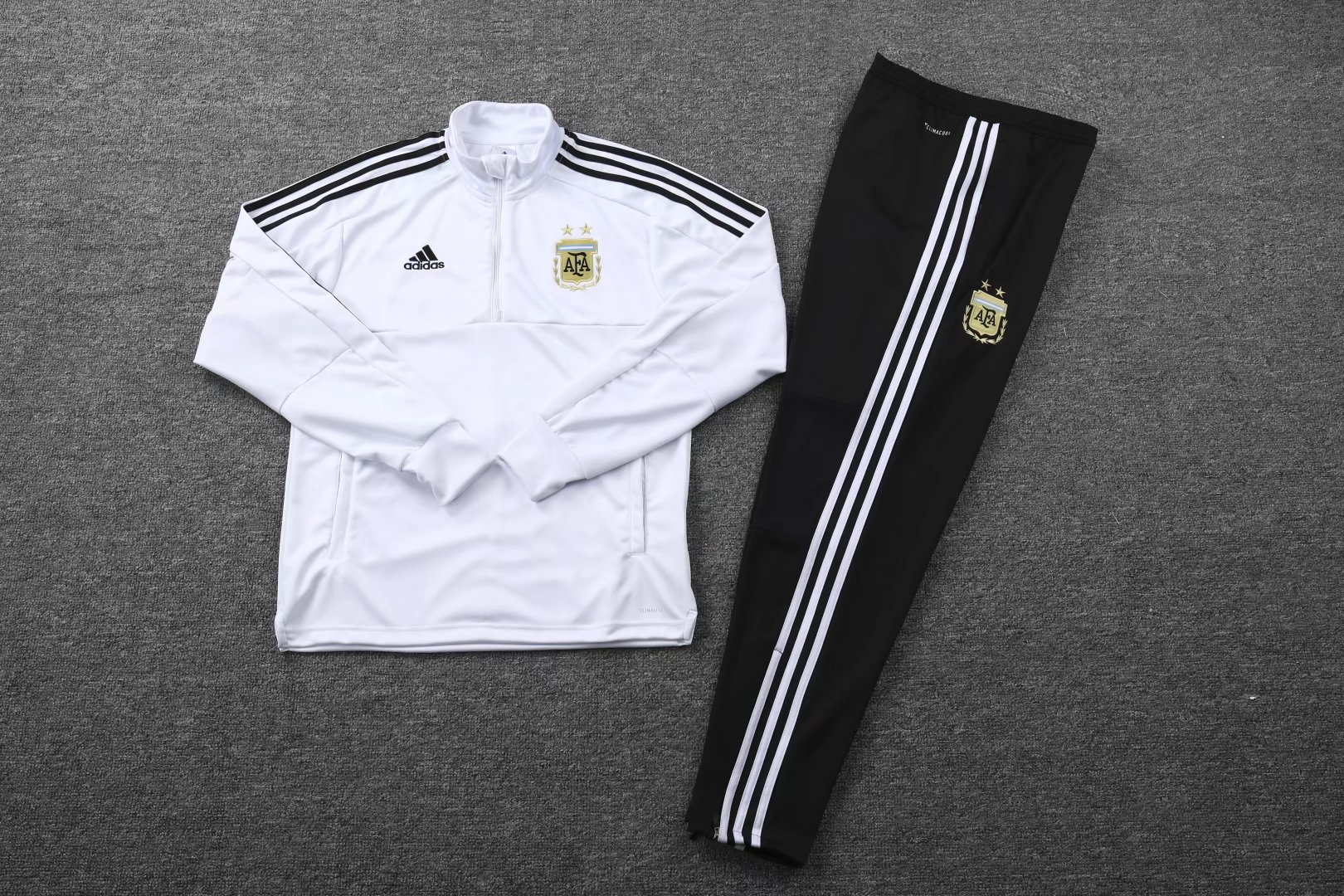 Argentina 2018 FIFA World Cup White Track Suit (Sweat Shirt+Trouser)