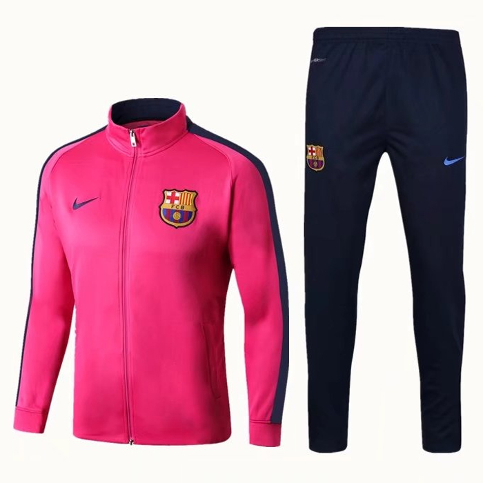 Barcelona Best Wholesale Football Kit 2017-18 Pink Tracksuits (Jacket+Pants)