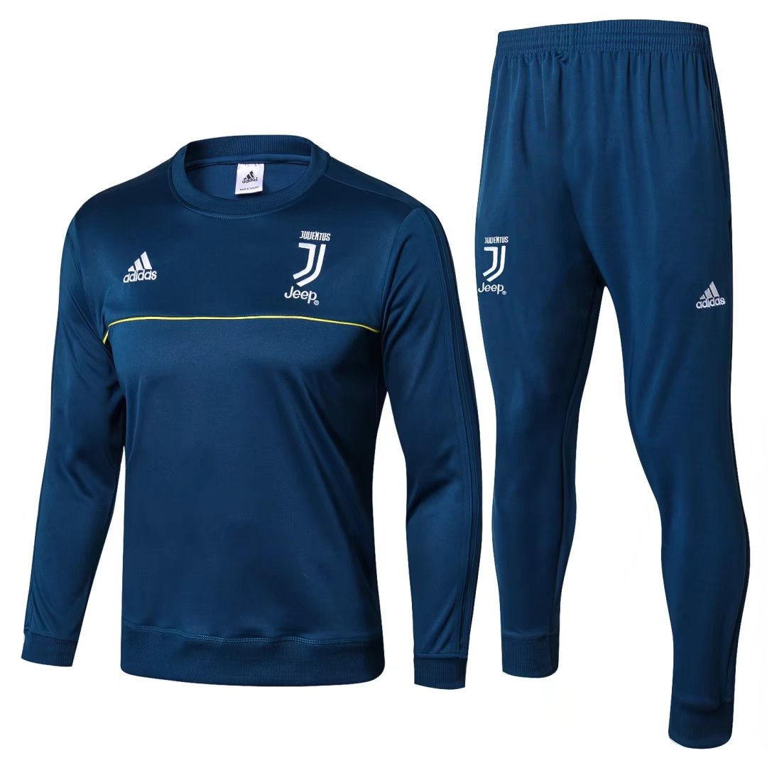 Juventus 2017-18 Blue O'Neck Track Suits (Sweat Shirt+Trouser)