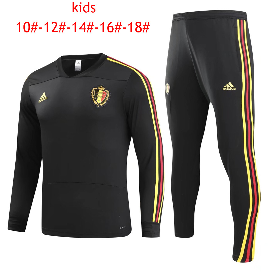 Kids Belgium 2018 World Cup Black O'Neck Tracksuit